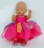 Dolls Butterfly Party Dress small size [ 14-18inch dolls and bears]